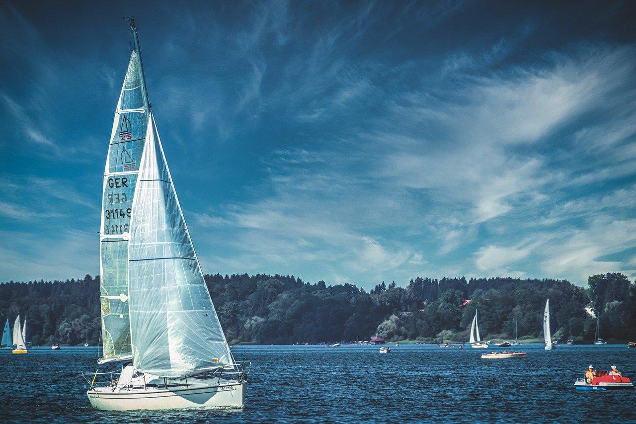 yacht, sailing boat, chiemsee